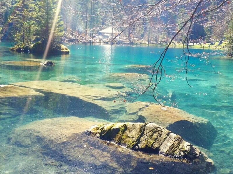 Blausee Kandergrund Be Bergsee See Seen