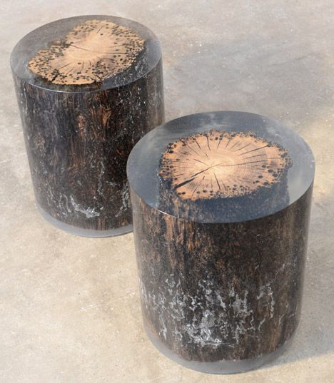Alcarol Traps Natural Materials In Resin To Form Furniture