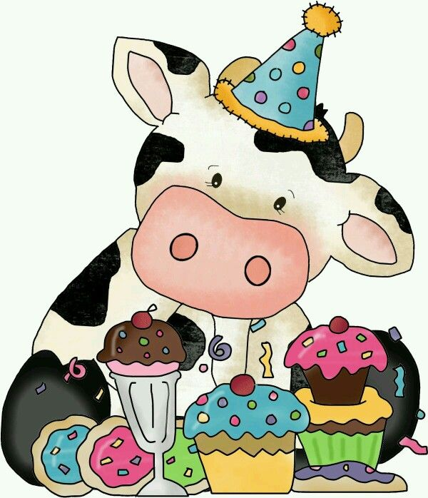 Pin By Lou Ann Burnett On Sweet 2 Cute Cows Happy Birthday Cow