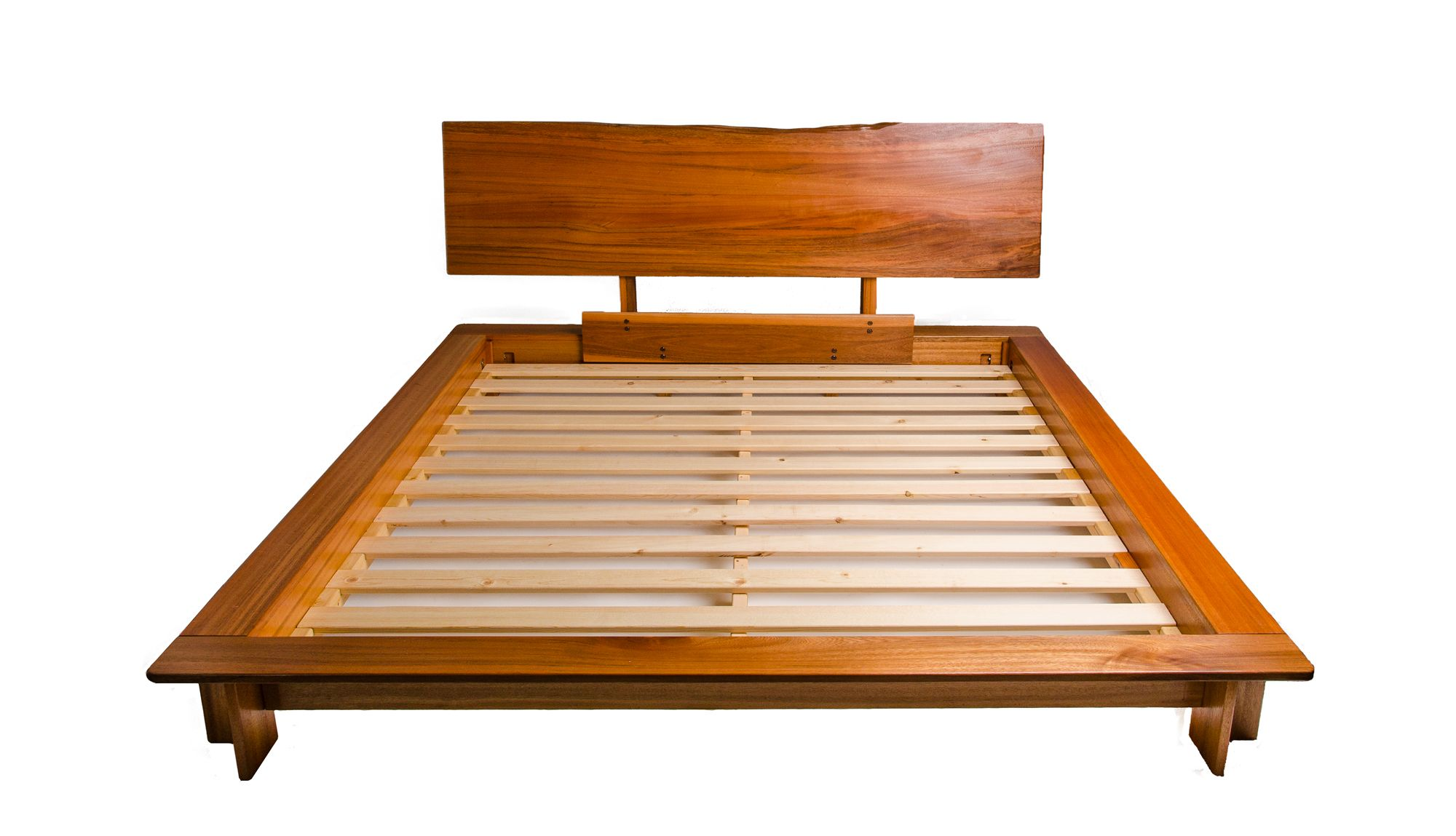 King Sized Zen Bed Frame Made From Local Hawaiian Rainbow Eucalyptus