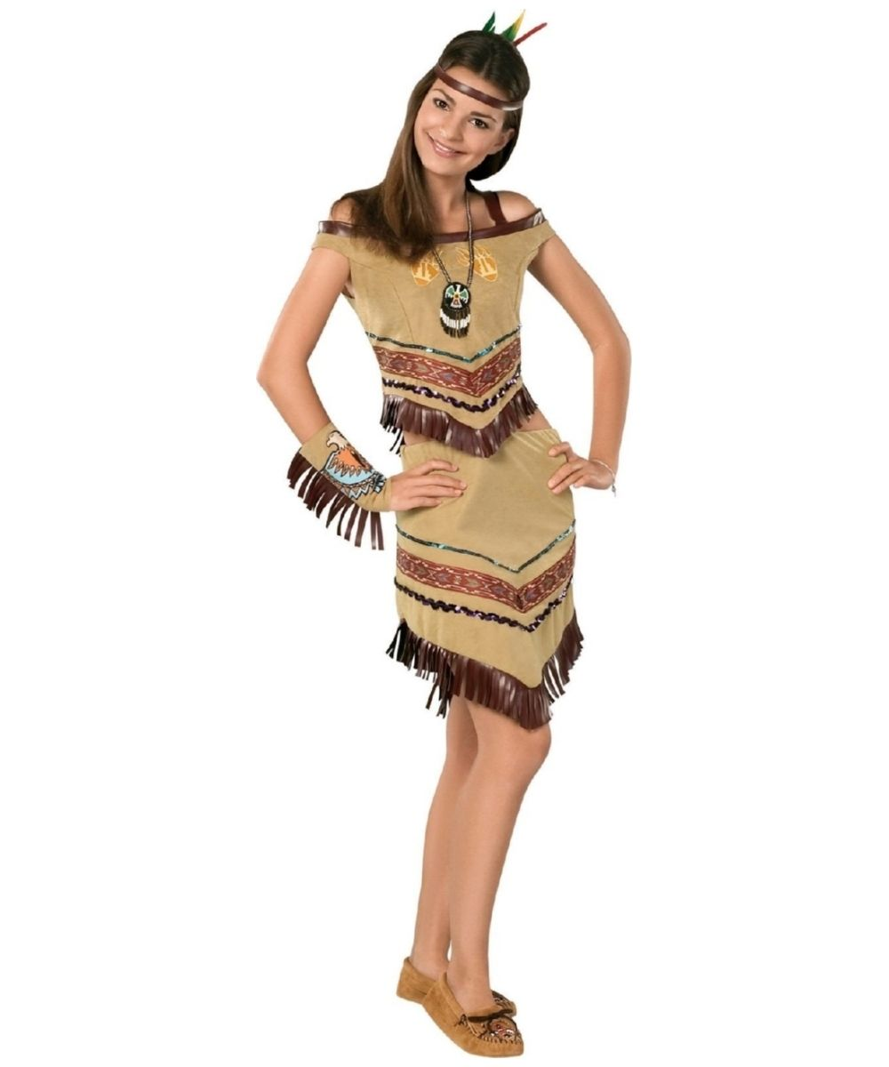 Indian Girl Costume Kids//Tween//Teen Halloween Fancy Dress