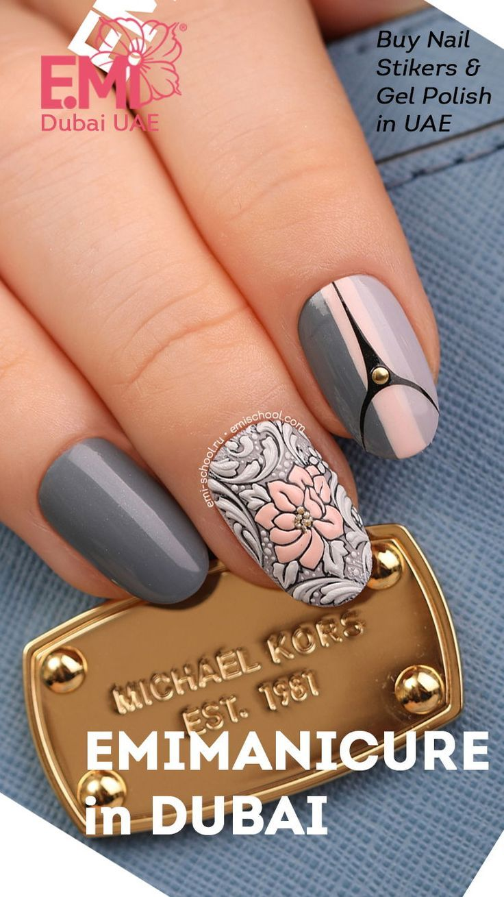 Cool 3D decorative nail art for short nails to try on your