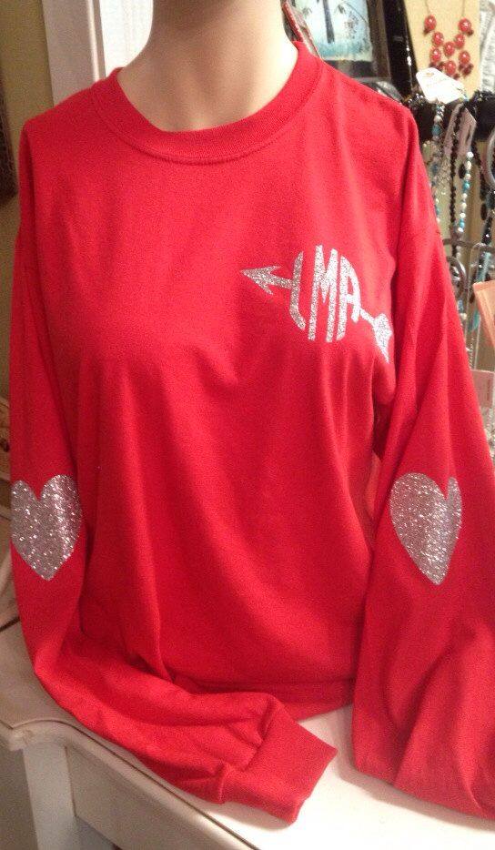 Arrow Monogram Red Shirt For Valentines Day Or Every Day