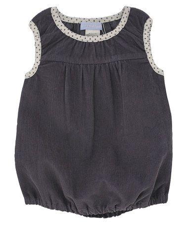 Love this Dark Gray Polka Dot Organic Bubble Dress - Infant by Serendipity Organics on #zulily! #zulilyfinds
