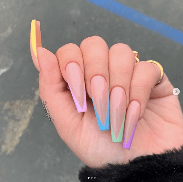 31 Looks Gorgeous Coffin Nails To Take Inspiration From Coffin Shape Nails Fire Nails Coffin Nails Long