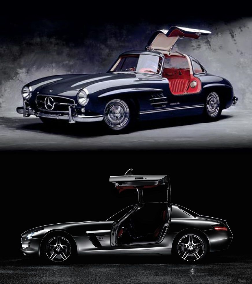 Mercedes-Benz 300SL And SLS AMG Cars