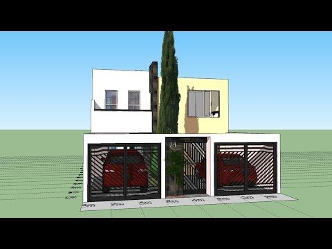 Como dise ar una casa de 7x15 mts de terreno youtube for Casa moderna 1 8