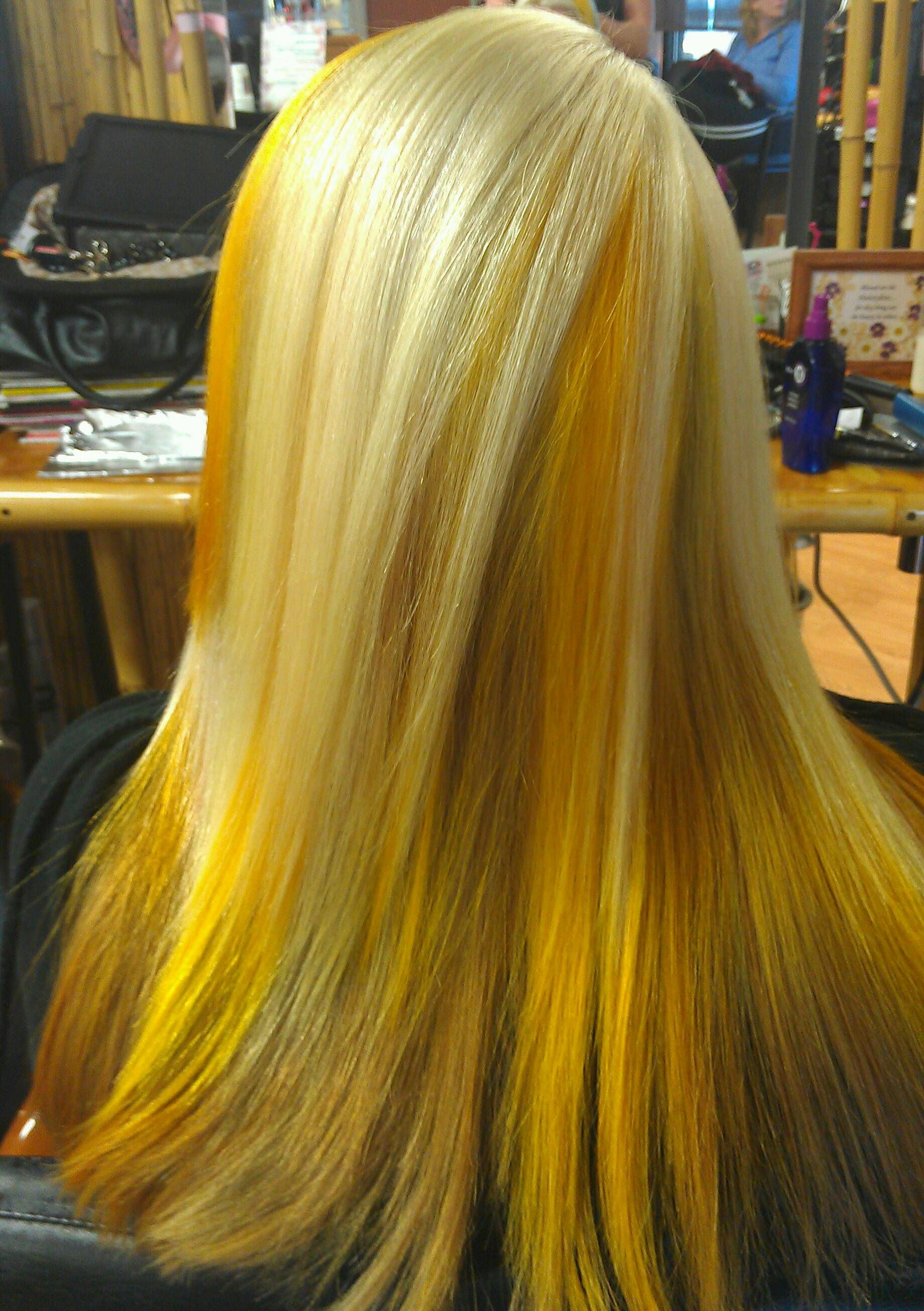 My Work Hair Yellow Blonde Funky Bright Colors Scrupels