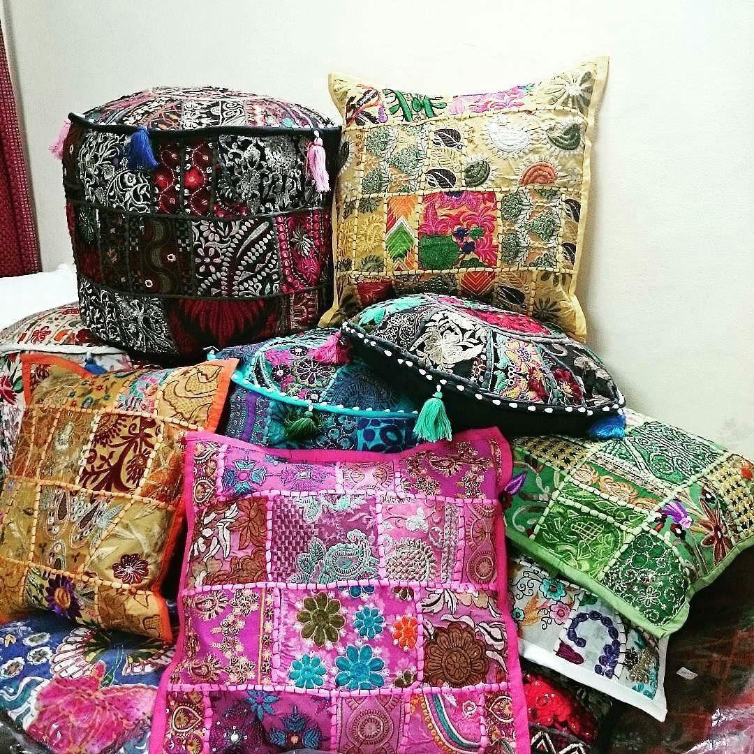 Shop handmade Beautiful boho poufs meditation and floor cushions ...