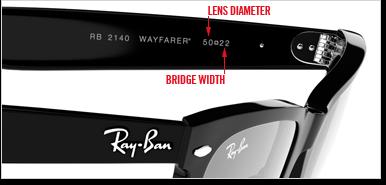 ray ban sunglasses size chart tmhy  ray ban wayfarers size guide