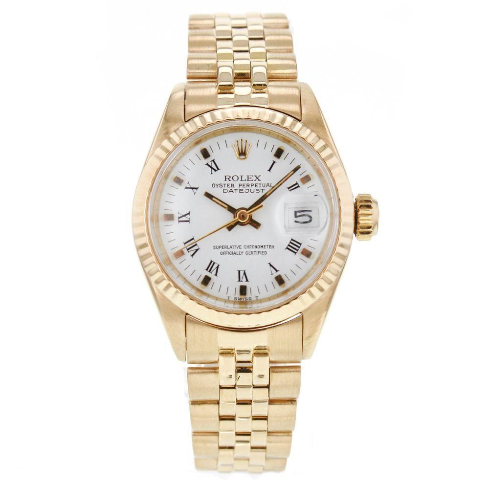 Vintage Ladies Rolex Datejust President 6917 18k Yellow Gold Watch w/ Papers #Rolex #LuxurySportStyles