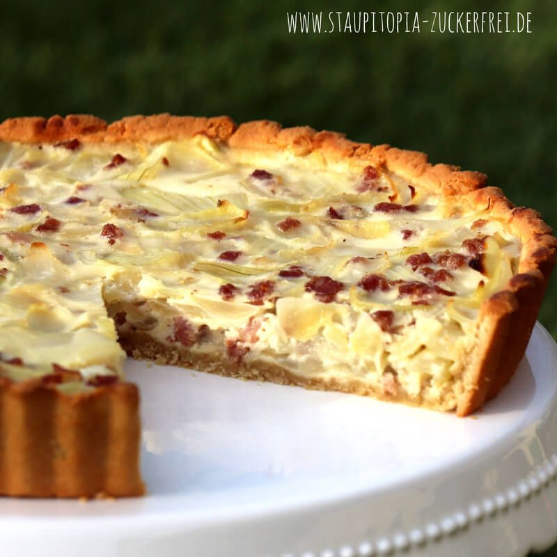Low Carb Zwiebelkuchen ohne Mehl - Staupitopia Zuckerfrei #menus