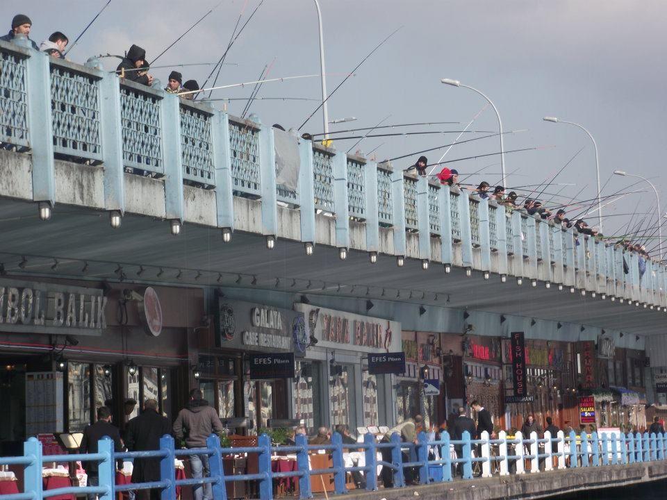 Fishermen on Galata Bridge Istanbul
