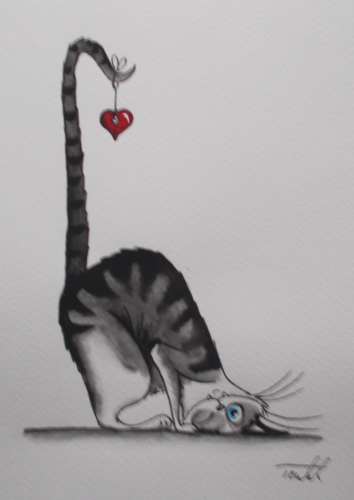 Aquarelle-034-Le-chat-coeur-034 and like OMG! get some yourself some pawtastic adorable cat apparel!