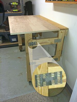 Cutting The Cable Easy To Build Folding Workbench