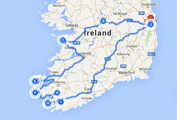 8 Tage Irland Routenbeispiel Reisetipps Unterkunfte Irland