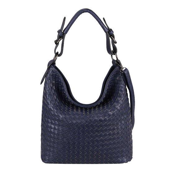Photo of OBC Damen Flecht Tasche Handtasche Shopper Leder O 15922.Blue