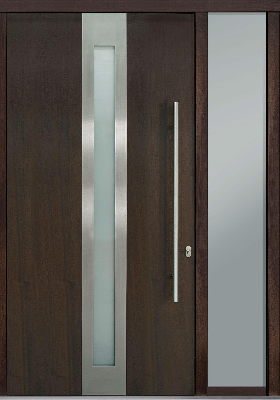 Front Door Custom Single With 1 Sidelite Modern Euro Technology With Walnut Finish Pivot Model Db Pv In 2020 Custom Front Doors Pivot Doors Custom Interior Doors