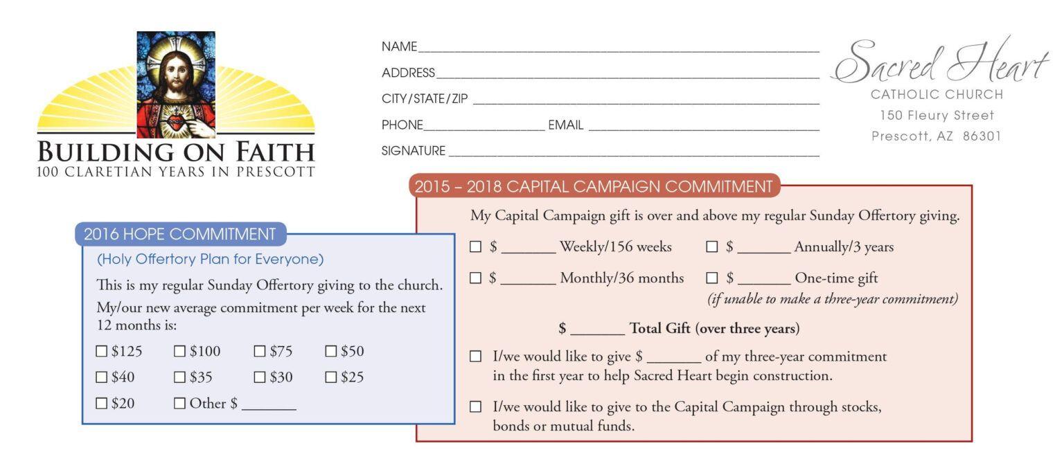 Pledge Card Sample Karan Ald2014 Inside Building Fund Pledge Card Template Church Capital Campaign Capital Campaign Card Template