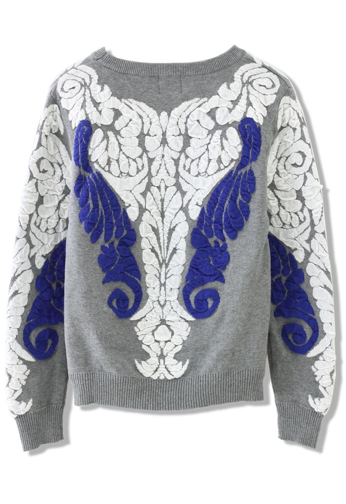 Baroque Embossed Knit Sweater