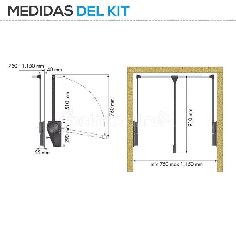 Armario Ropero Metal : Elevador ropa abatible armario ropero metal