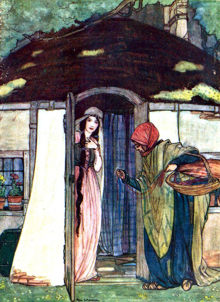 'Sprookjes van Moeder de Gans (Tales from Mother Goose)', illustrated by Rie Cramer. Published 1916 by Sr. W de Haan, Utrecht.