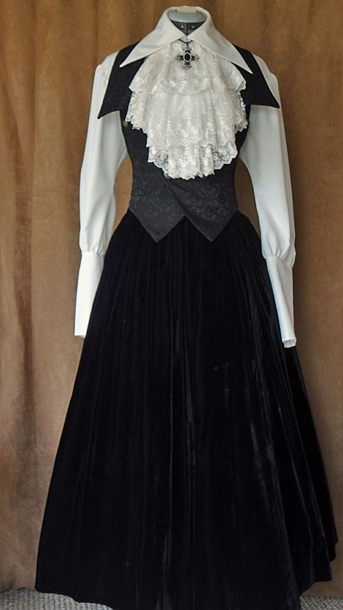 Blouse, vest: Atelier Boz Jabot: Triple Fortune Skirt: Vintage ...