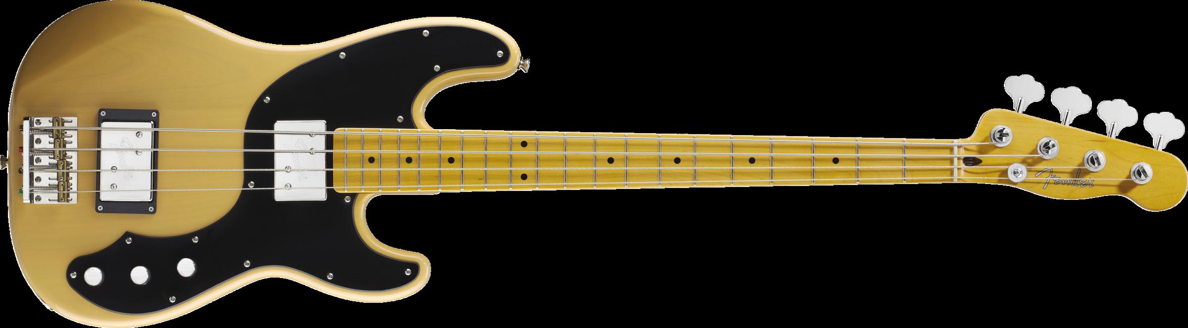 Modern Player Telecaster Bass Maple Fingerboard Butterscotch Blonde Telecaster Bass Guitar Acoustic Bass Guitar