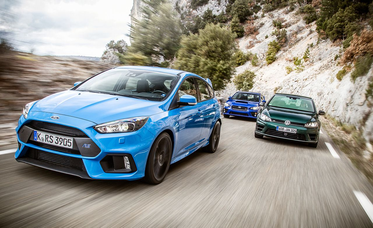 2016 Ford Focus Rs Vs 2015 Subaru Wrx Sti 2016 Volkswagen Golf R 2015 Subaru Wrx Ford Focus Subaru Wrx