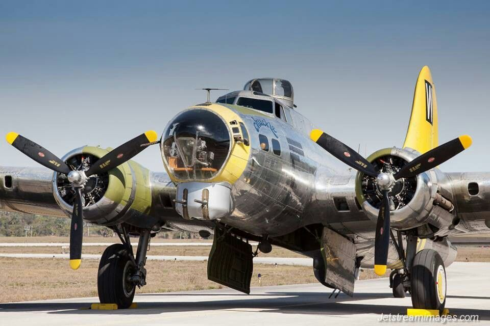 Saw this plane being restored. Have seen it fly in several airshows. One of the prettiest B17s in the air.