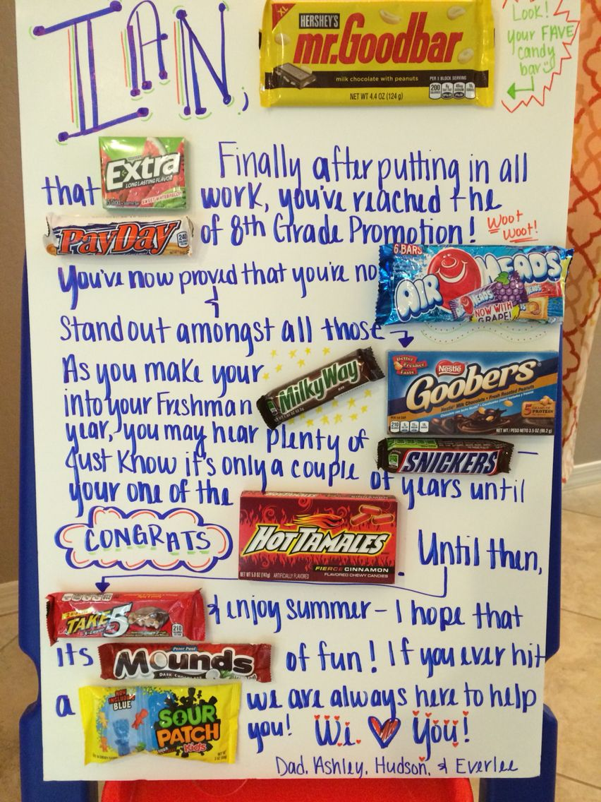 Jr High Graduation Candy Gram What A Fun And Creative Way