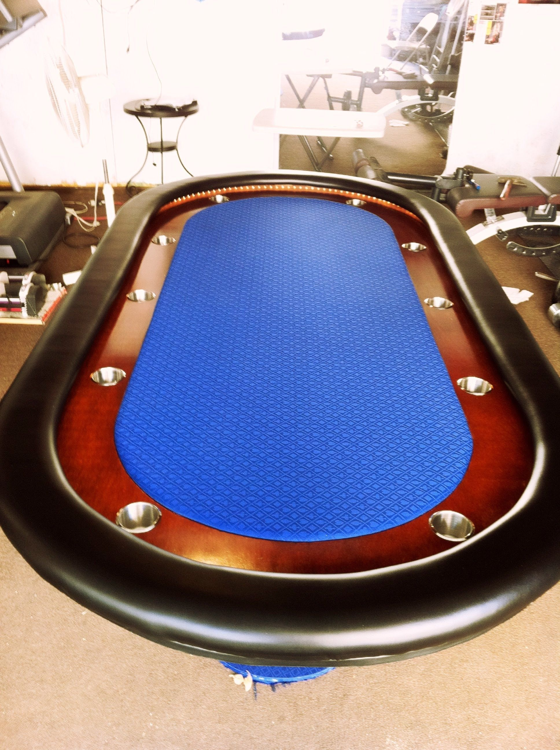Trademark Poker Table With Folding Legs And Suites Padded Rail