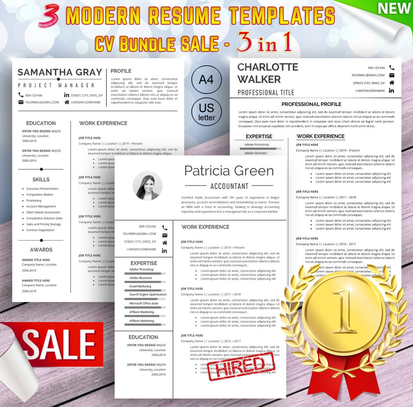 Resume Templates Word CV Template Creative CV Modern