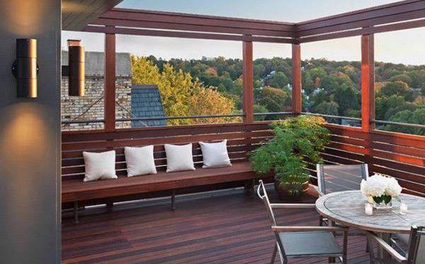 Marcos de madera en la terraza entrada pinterest for Pisos de terrazas modernas