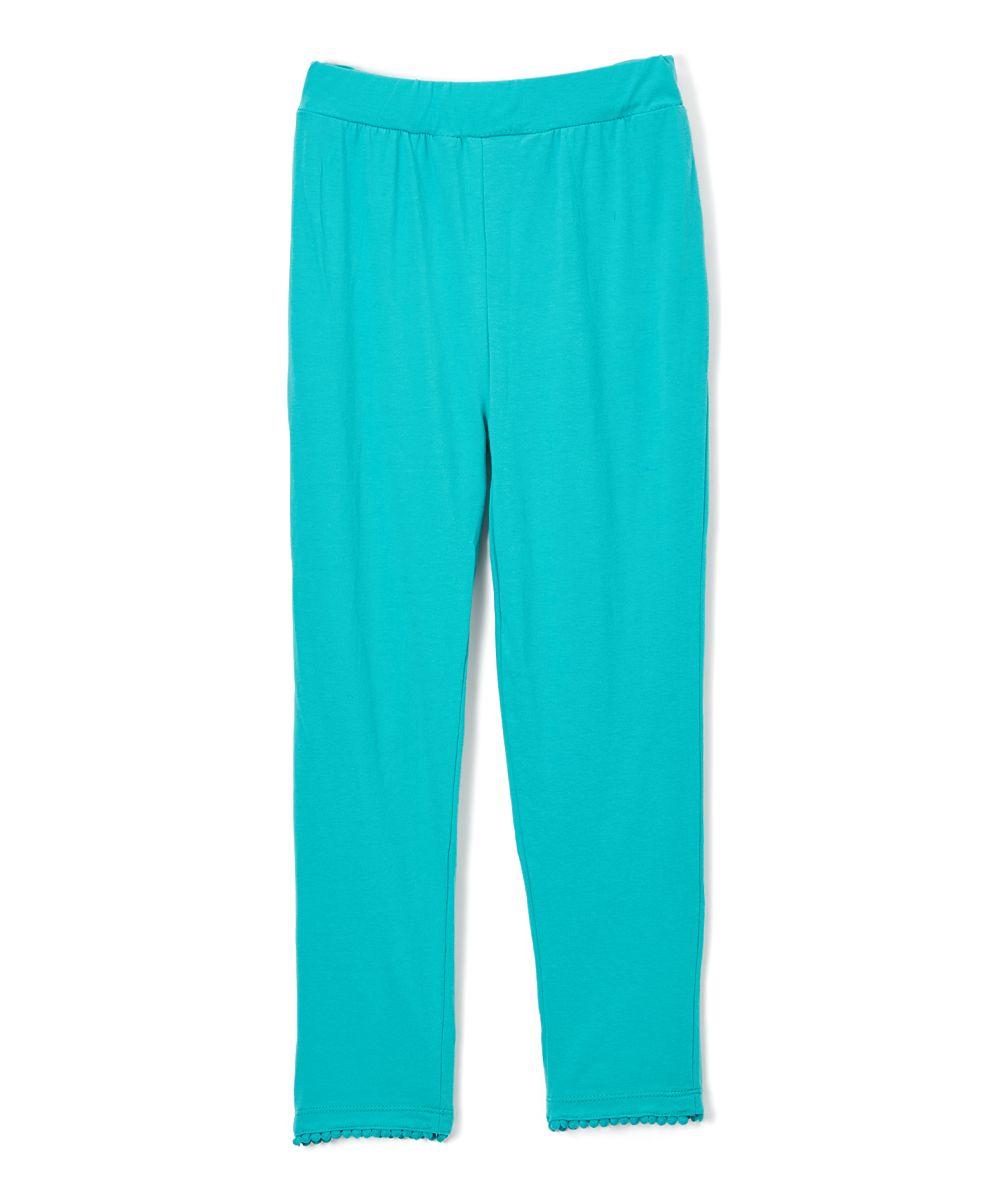 Teal Ball-Trim Capri Pants & Girls - Toddler & Girls | Toddlers ...