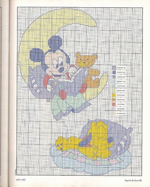 Punto croce Baby Disney per copertine lenzuolini (3