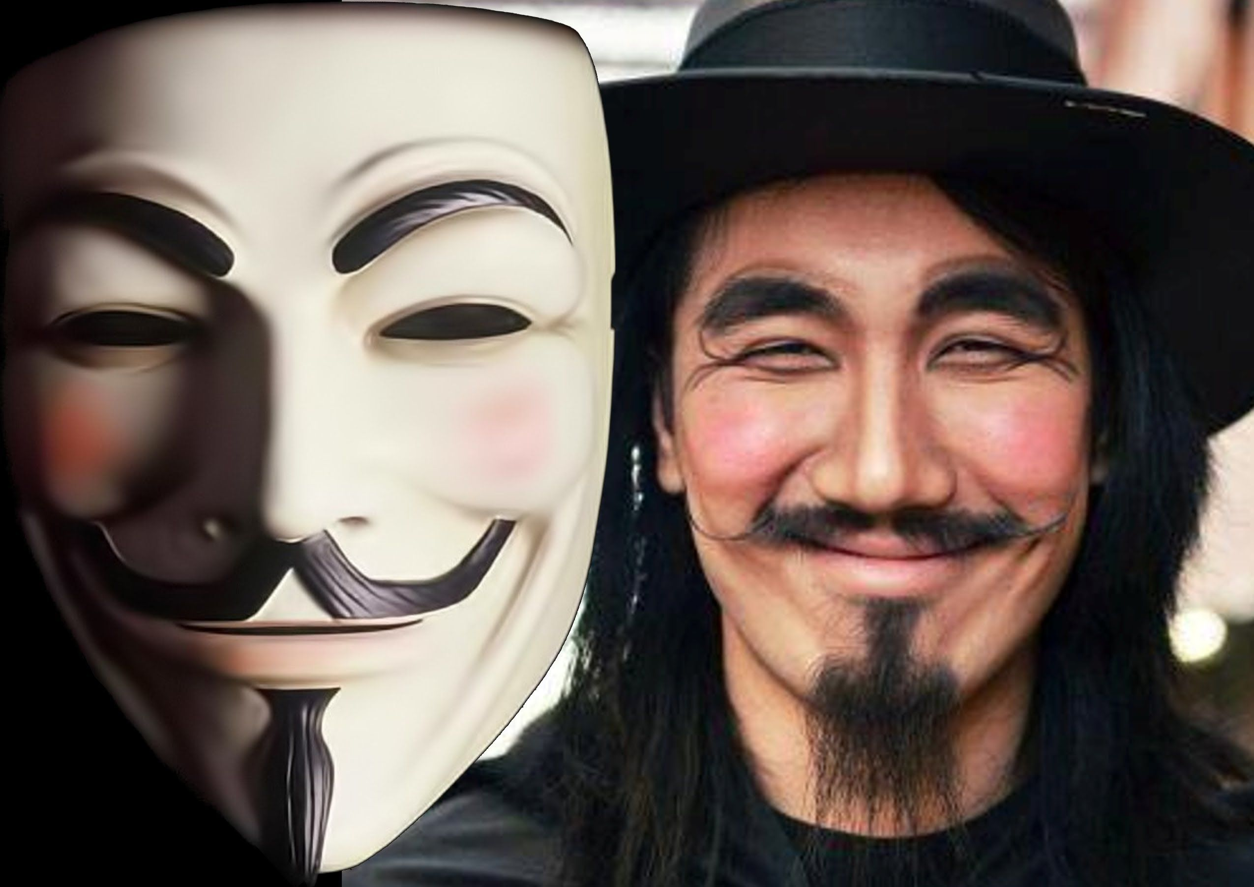 Guy Fawkes Face Paint - How To Do A Guy