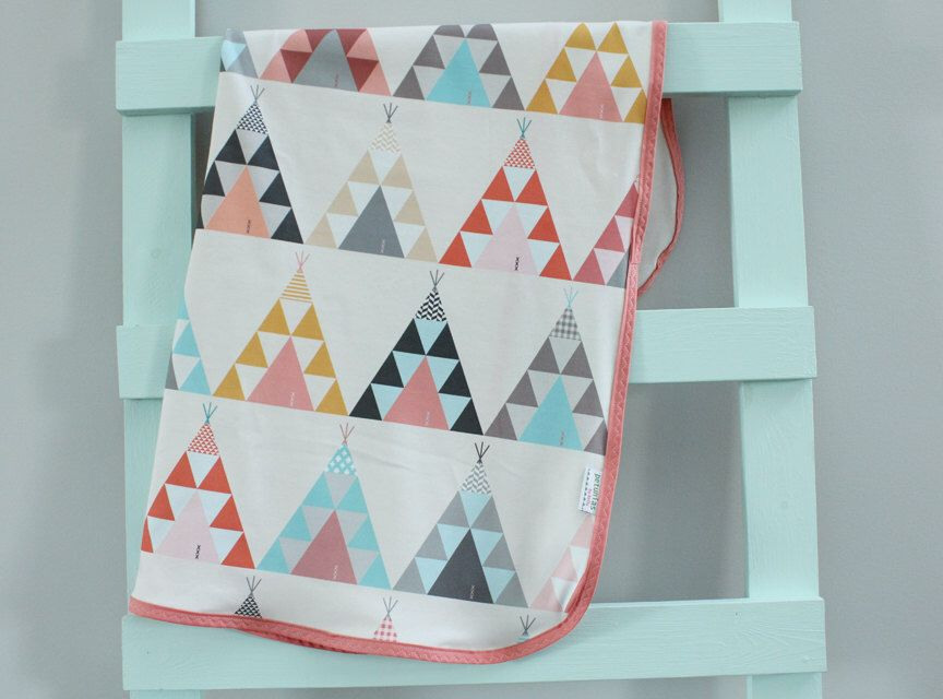 Baby Blanket swaddle coral teepee indian organic by PETUNIAS newborn hipster modern baby shower gift photo prop wrap cotton girl boy nuetral by PETUNIAS on Etsy https://www.etsy.com/listing/242997068/baby-blanket-swaddle-coral-teepee-indian