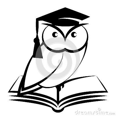 Coruja Com Chapeu E Livro Da Faculdade Coruja Desenho Coruja
