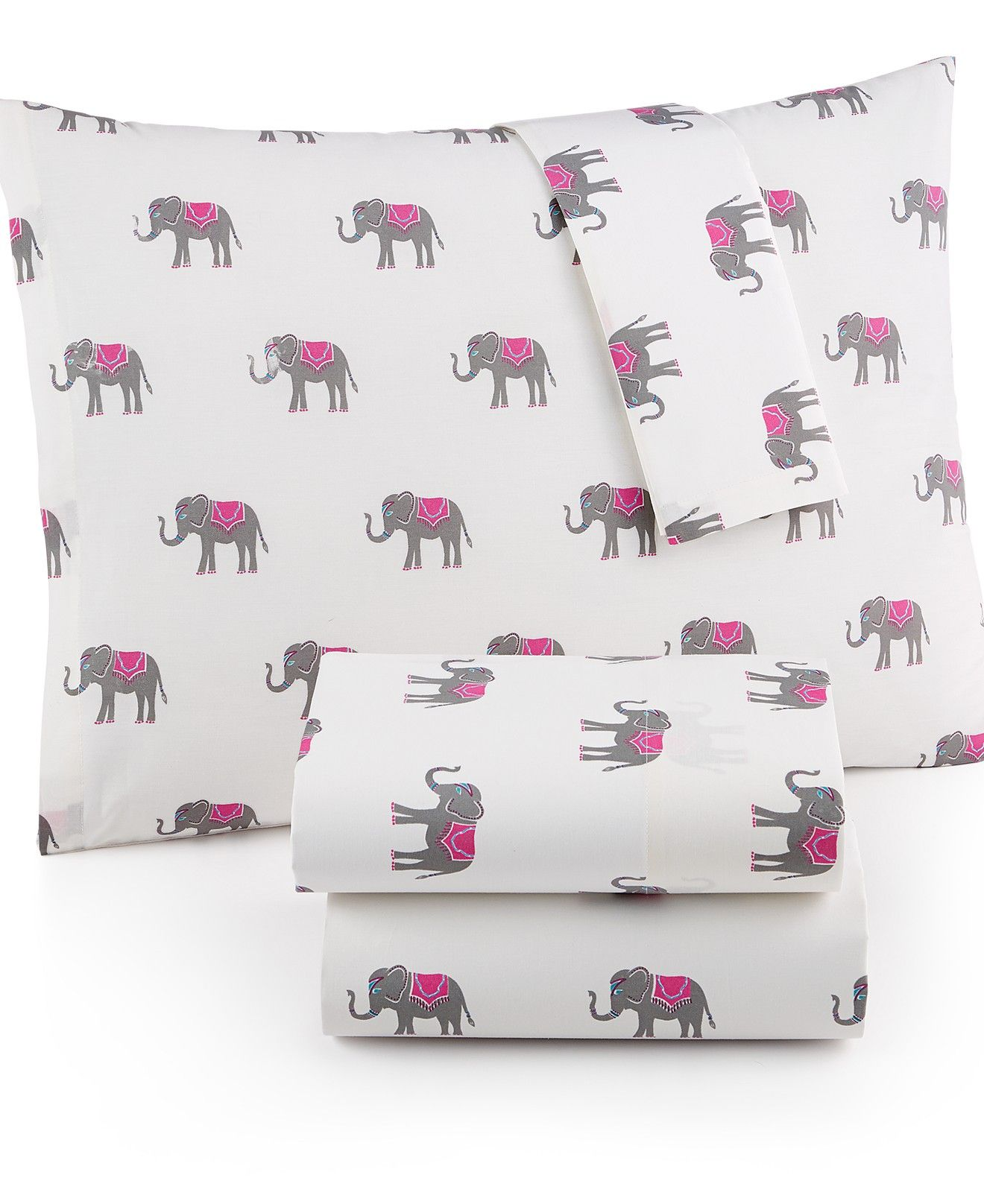 Whim by Martha Stewart Collection Novelty Print Cotton Percale Sheet Sets, Only at Macy's - Sheets - Bed & Bath - Macy's