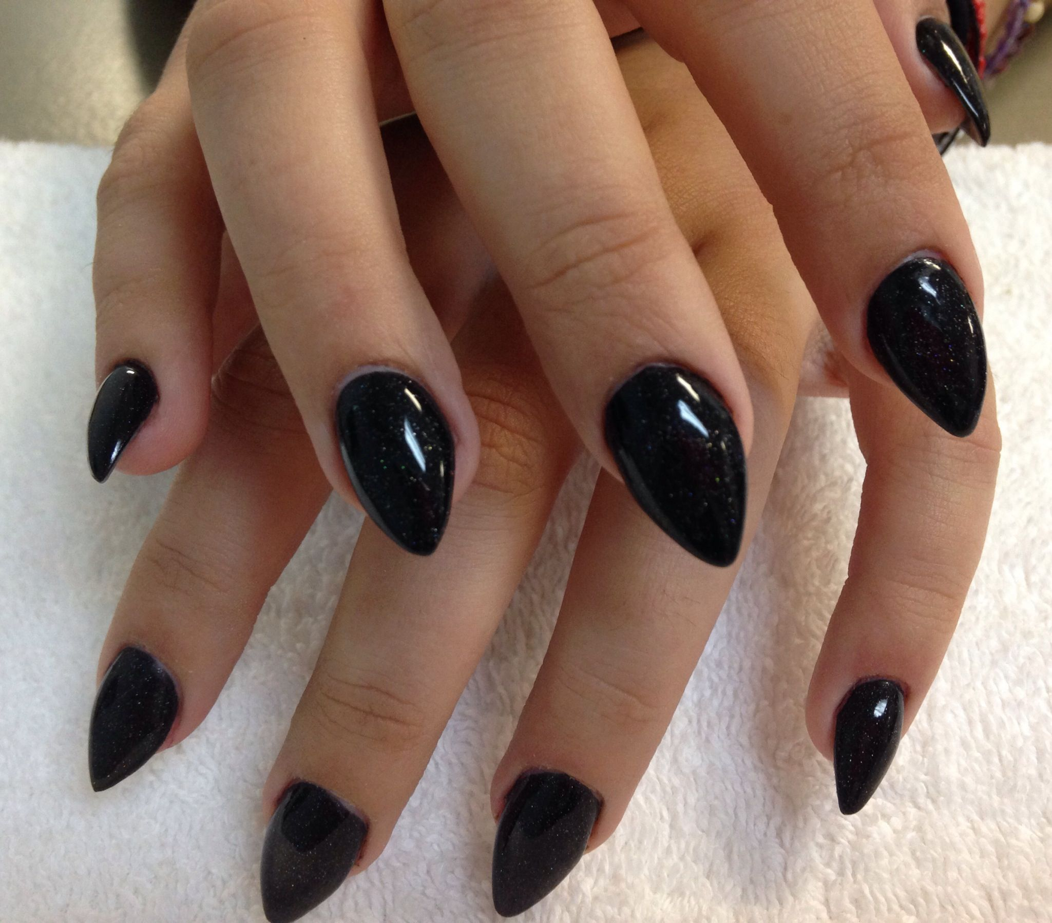 17 new gel nails galway black custom acrylic overlay