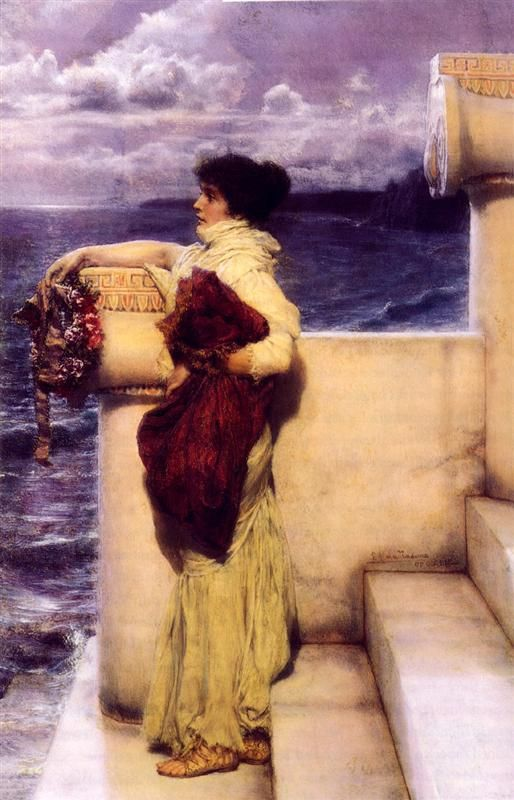 Hero Artist: Sir Lawrence Alma-Tadema Completion Date: 1898 Style: Romanticism Genre: portrait Technique: oil Material: canvas
