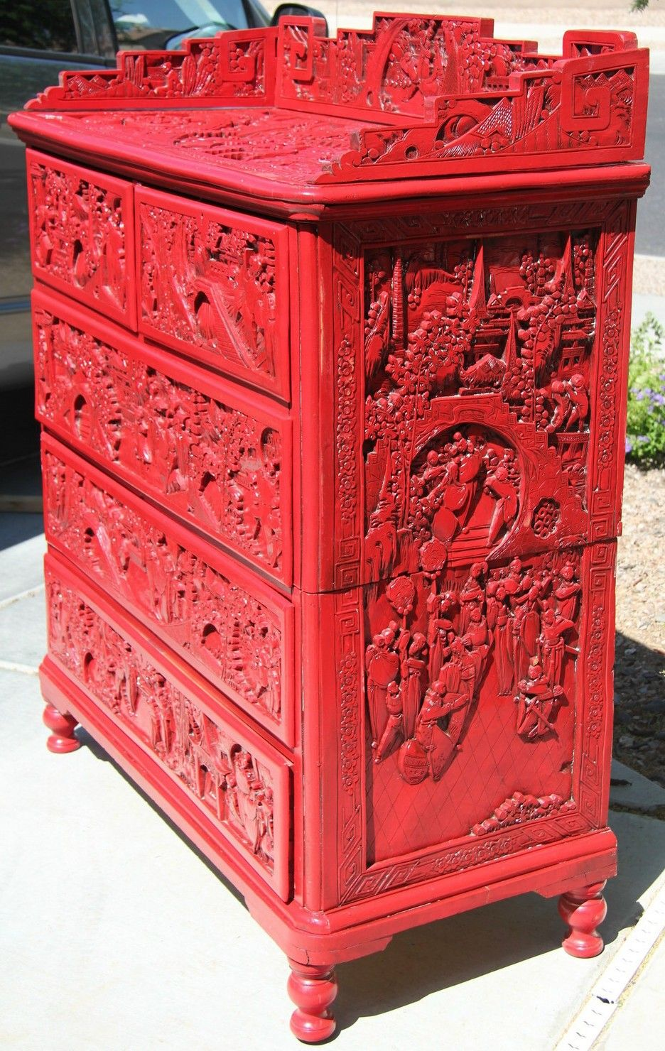 Maybe I Should Paint All Of My Chinese Carved Furniture RED!