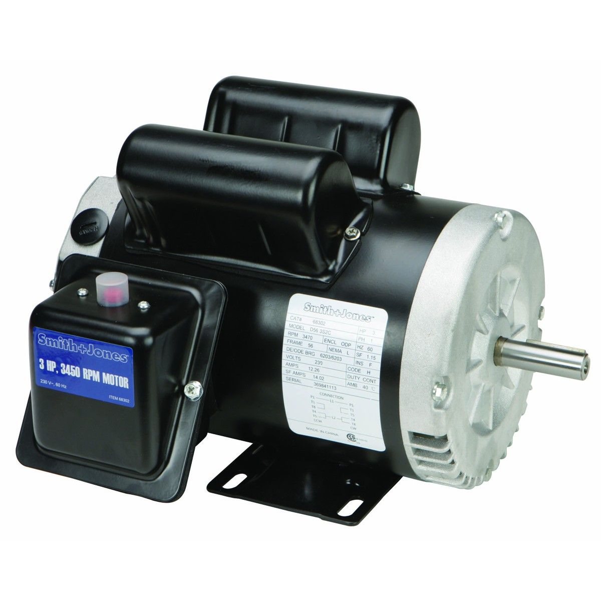 3 Hp Compressor Duty Motor Electric Motor Compressor Motor