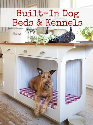 Stylish Built-in Dog Beds and Kennels