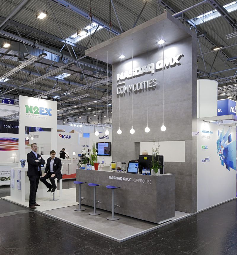 Exhibition Stall Reference : Nasdaq stand exhibition booth design