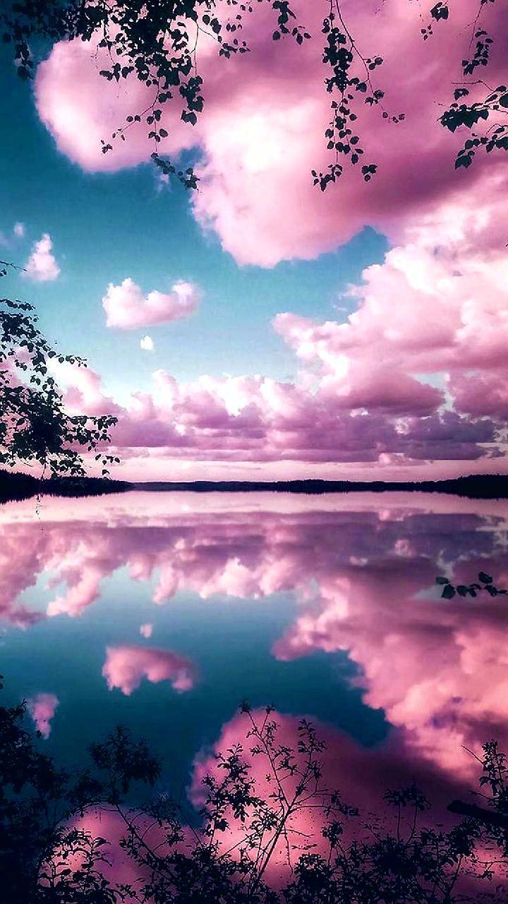 Reflecting pink sky wallpaper by Goodfellagrl - 0d