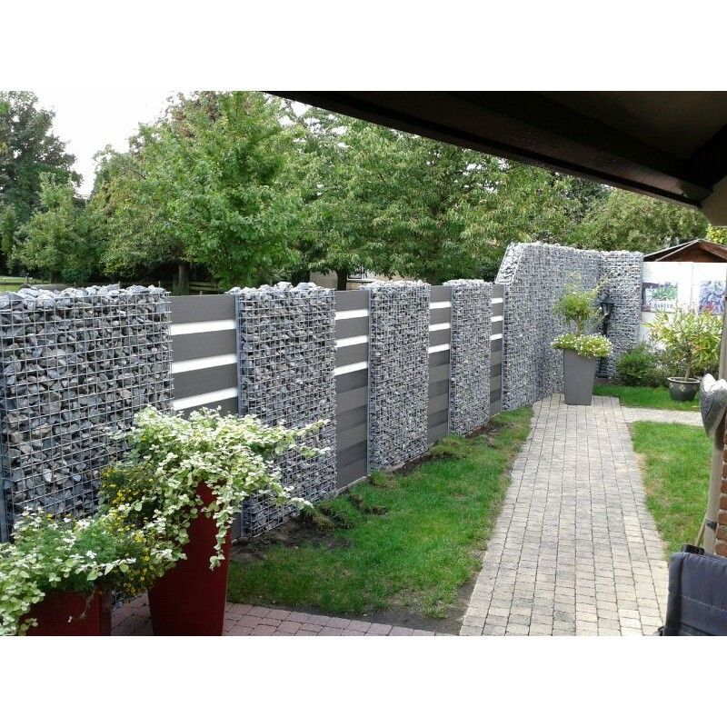 Wpc Gartenzaun Set 180cm Lang 180cm Lang Sichtschutzstein Wpcgartenzaunset In 2020 Sichtschutzwand Garten Sichtschutzzaun Garten Garten Landschaftsbau