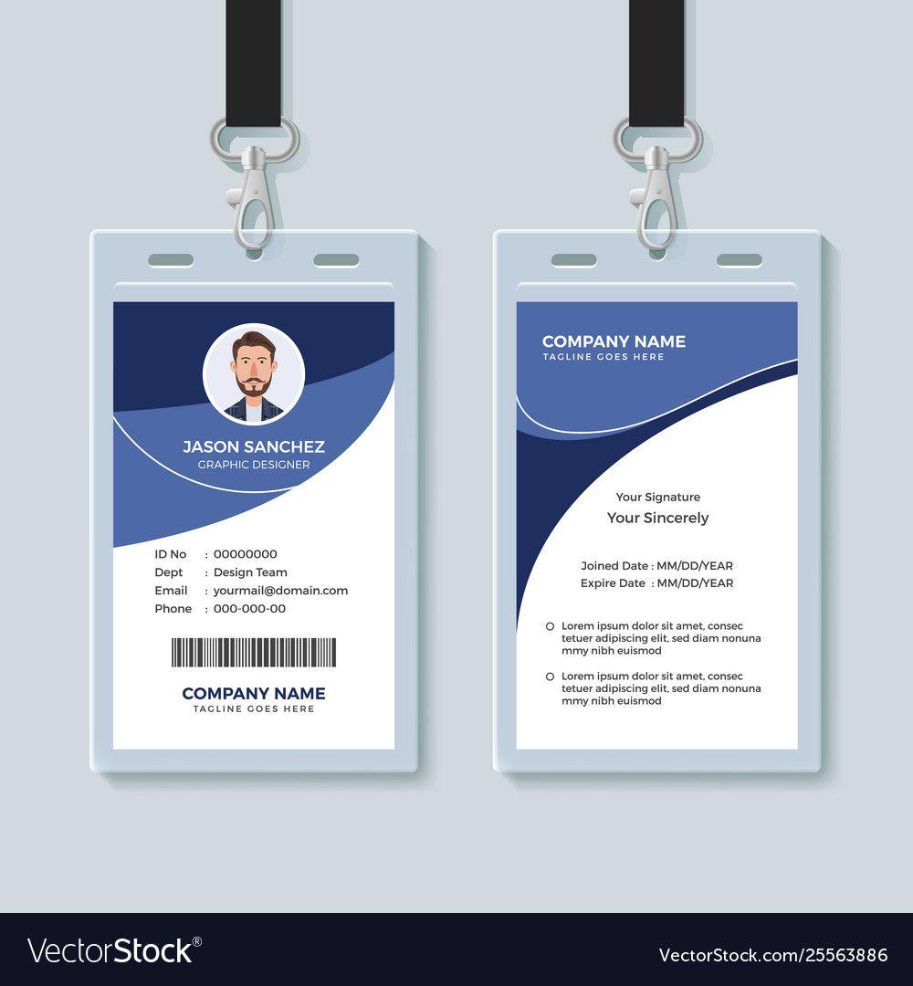 Simple Corporate Id Card Design Template Throughout Company Id Card Design Template Company Id Corporate Id Id Card Template