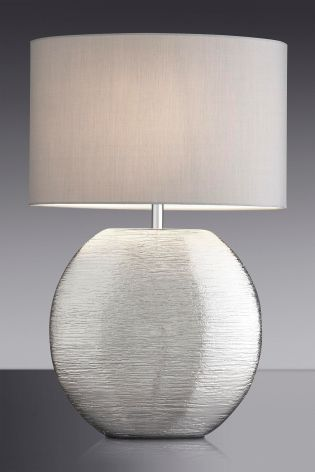 Buy large silver scratch ceramic table lamp from the next uk online buy large silver scratch ceramic table lamp from the next uk online shop aloadofball Images